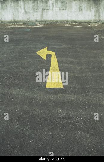 Turn left arrow sign - Stock Image
