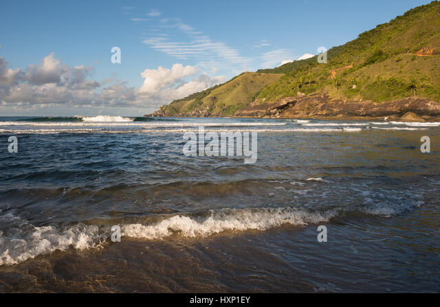 Bonete Beach in Ilhabela, Brazil - Stock Image