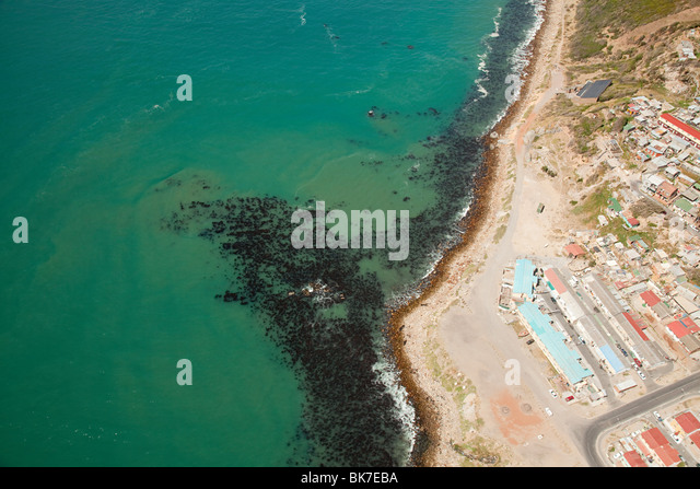 Aerial view of cape town coast - Stock Image