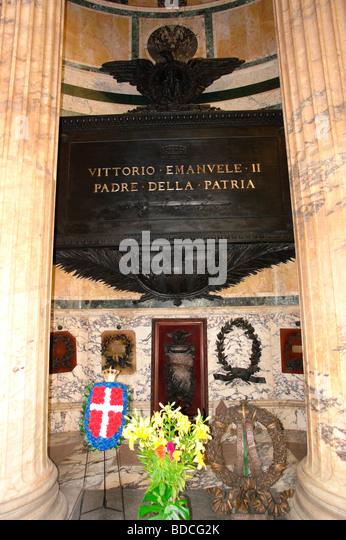 Vittorio Emanuele II, 14.3.1820 - 9.1.1878, King of Italy 1861 - 1878, Tomb of Vittorio Emanuele II. in the Pantheon, - Stock Image