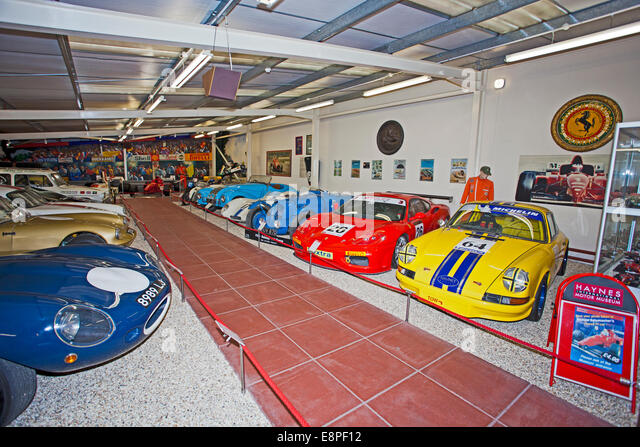 The Hall of Motor Sport in the Haynes International Motor Museum Sparkford Somerset UK - Stock Image