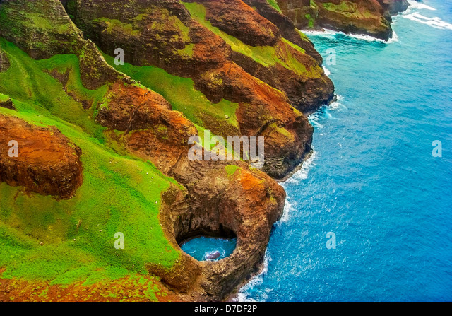Na Pali Coast View, Kauai, Hawaii, USA - Stock-Bilder