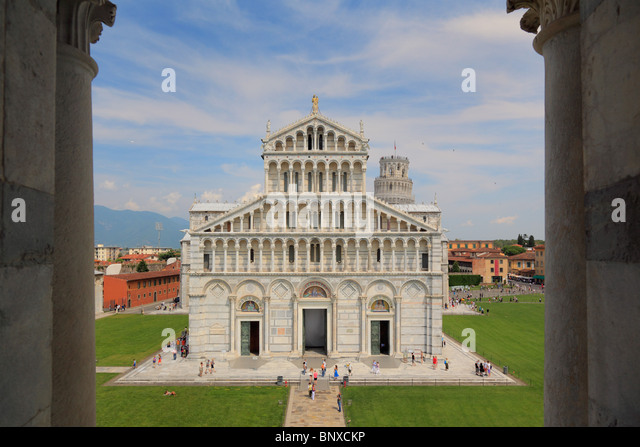The Duomo in Pisa's Square of MIracles, Italy - Stock Image