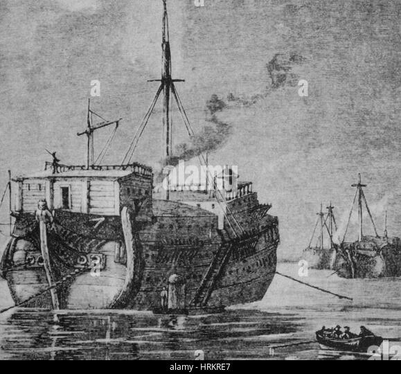 HMS Jersey, 1777 - Stock Image