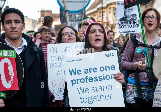 Bristol, UK, 26th April, 2016. Protesters are pictured as they take part in a march and demonstration in Bristol - Stock Image