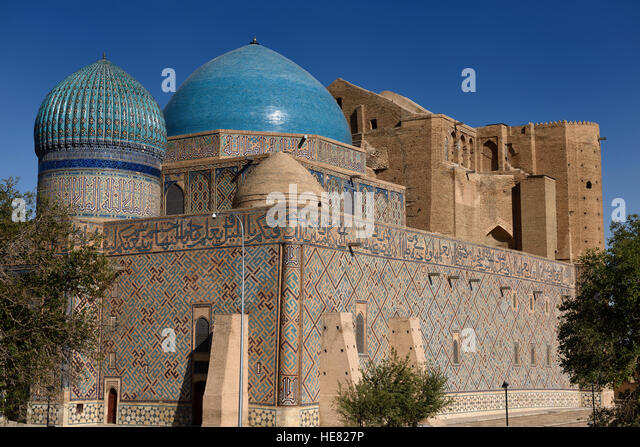 Largest dome in Central Asia at Mausoleum of Khoja Ahmed Yasawi in Turkistan Kazakstan - Stock Image