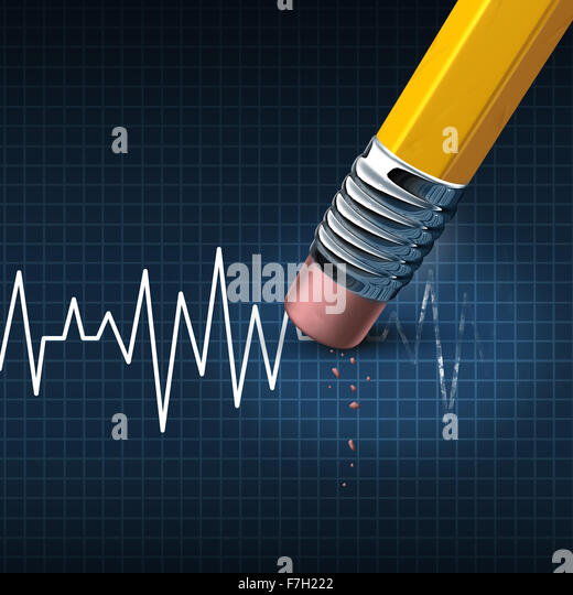Shorten your life medical and health care problem concept as a life line or heart monitor ekg or ecg chart being - Stock Image
