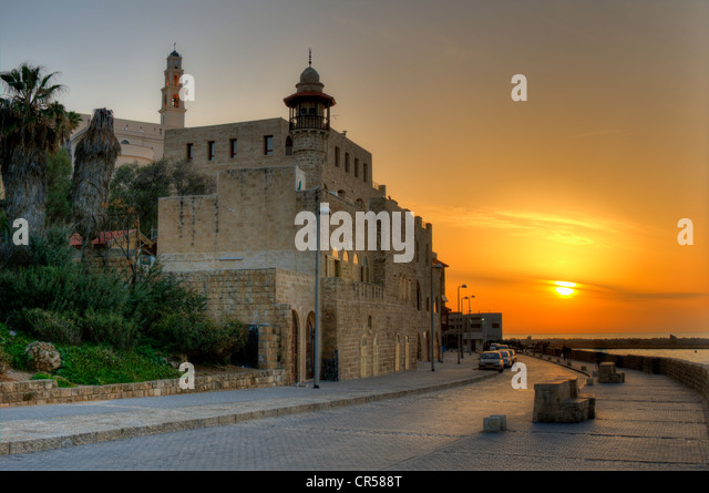 Old Jaffa walled City in Tel Aviv, Israel - Stock Image