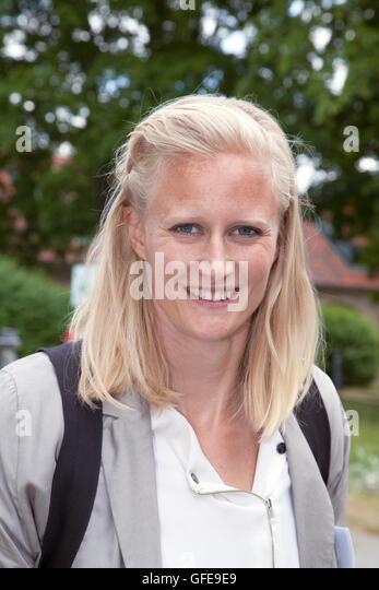 CAROLINA KLÜFT Swedish heptathletes in athletics with great success active - Stock Image