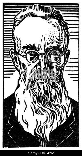 Rimsky-Korsakov, Nicholay, 18.3.1844 - 21.6.1908, Russian musician (composer), portrait, graphic, circa 1900, full - Stock Image