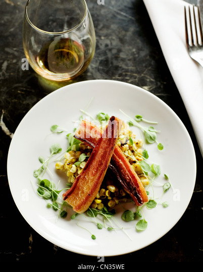 Bacon salad - Stock Image