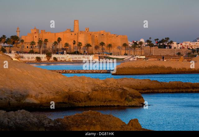 Tunez: Monastir.Ribat (monastery-fortress) built 8-9th century - Stock Image