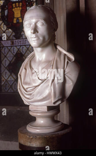 bust of Spenser Percival in the Houses of Parliament - Stock Image
