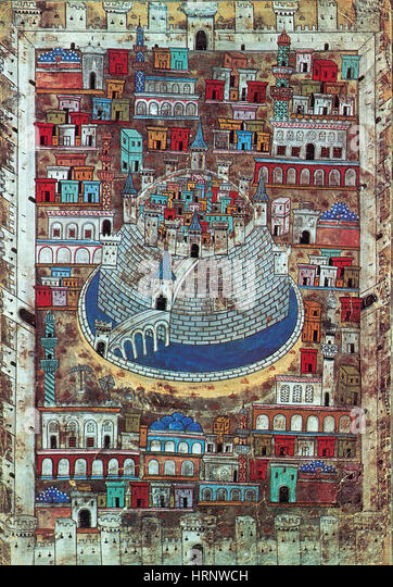 Aleppo, Syria, 16th century - Stock Image