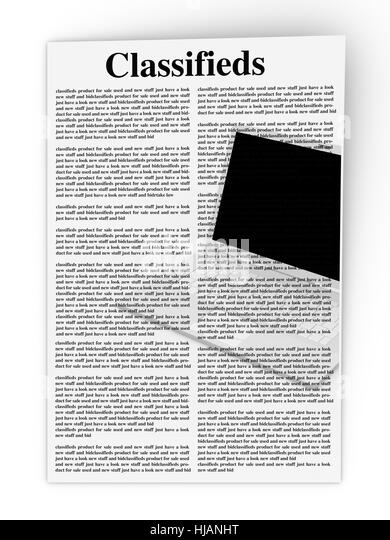 Job advertisement newspaper stock photos job for Office design journal