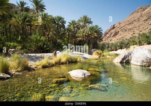Wadi Bani Khalid, Oman, Middle East - Stock Image
