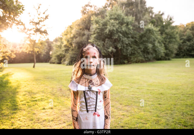 A child dressed in costume for Halloween Night. - Stock Image