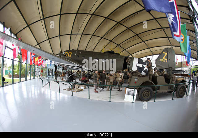 C-47 transport plane of the USA which pulled the gliders used in the D-day landings. - Stock Image