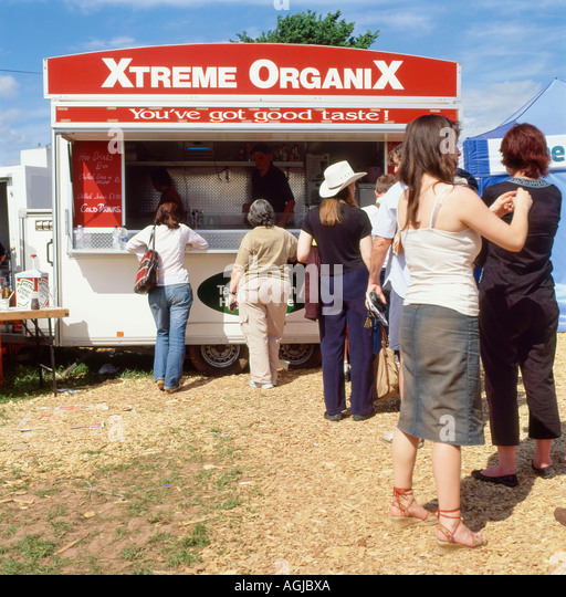 Xtreme Organix food stall shortlisted for best organic take-away BBC 2007 UK Food and Farming Awards - Stock Image