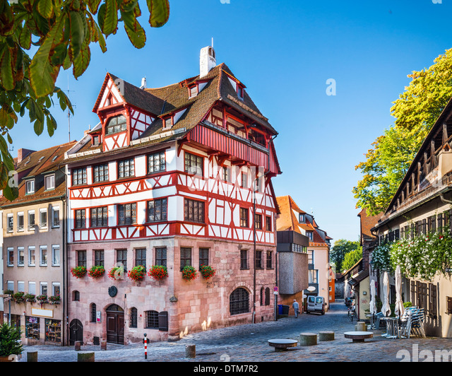 Nuremberg, Germany at the historic Albrecht Durer House. - Stock Image