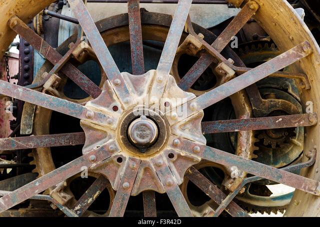 Antique Tractor Steel Wheels : Steel wheel tractor stock photos