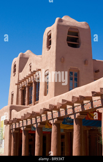 Museum Of American Indian Art Santa Fe New Mexico - Stock Image
