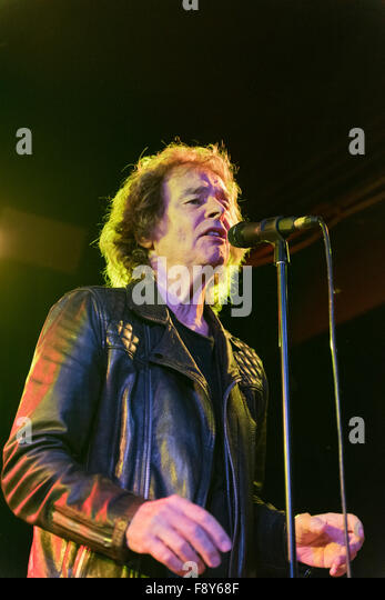 Rock band The Zombies in concert at Manchester Academy, 9th December 2015. Founder member and lead singer Colin - Stock Image