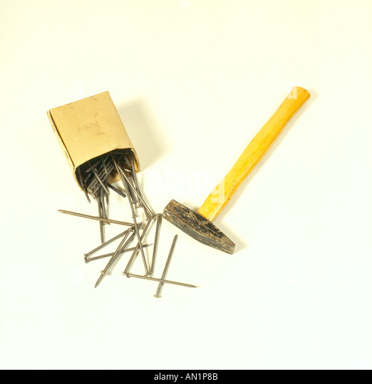 hammer and nails. Photo by Willy Matheisl - Stock Image