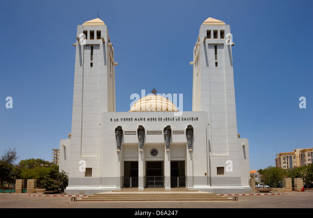Cathedral of Dakar, Senegal, Africa - Stock Image