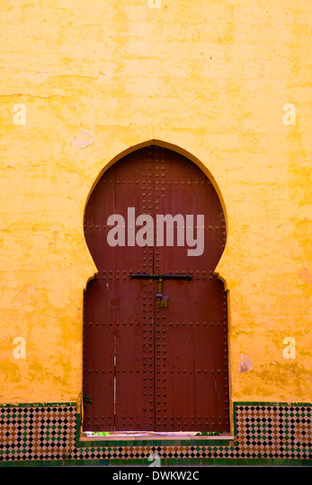 Gate to Medina, Meknes, Morocco, North Africa, Africa - Stock Image