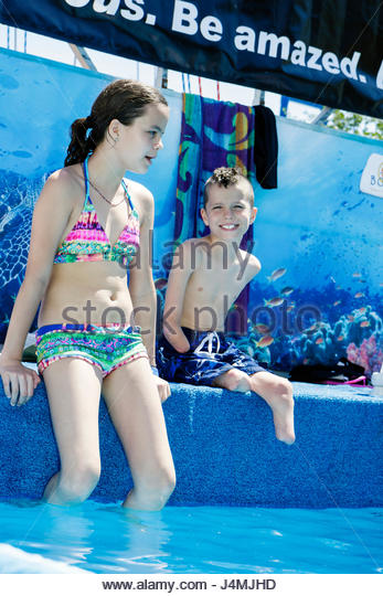 Miami Coconut Grove Florida Shake-a-Leg Miami No Barriers Festival water sport facility non-profit disabled physical - Stock Image