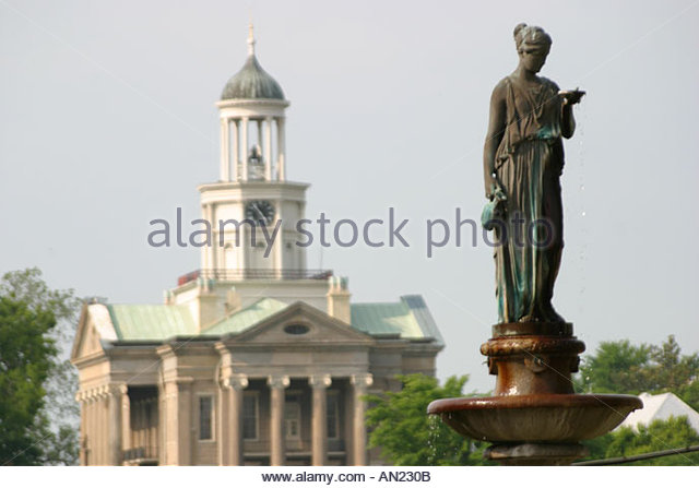 Mississippi Vicksburg Bloom Fountain Old Court House Museum - Stock Image