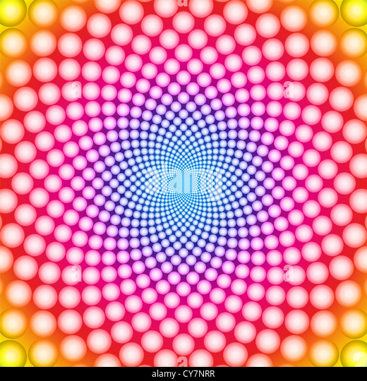 Ring optical illusion - Stock Image