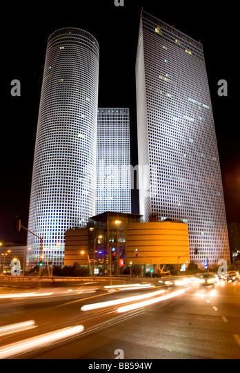 tel aviv azrieli towers, Israel - Stock Image