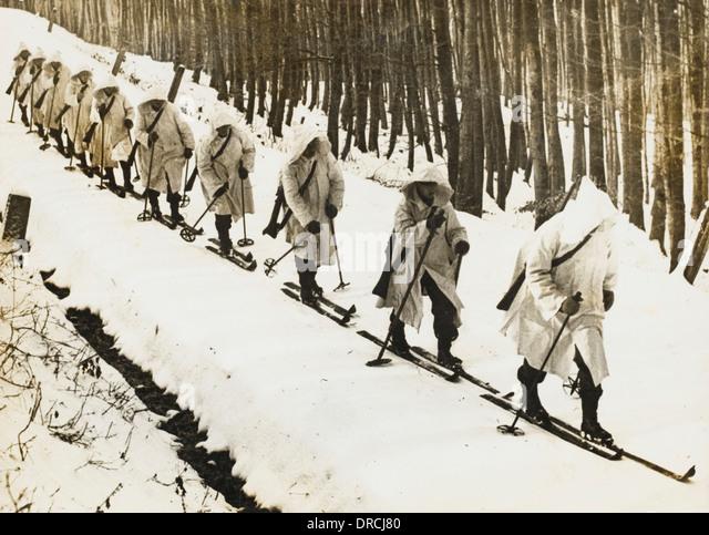 Austrian infantry - Stock Image