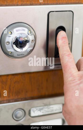 Door entry system stock photos