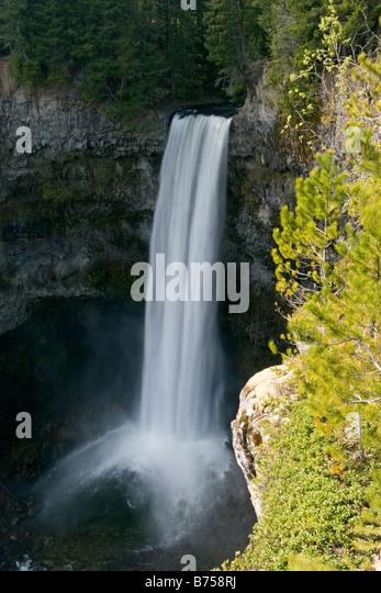 Brandywine Falls located near Whistler, British Columbia, off Sea to Sky Highway - Stock Image