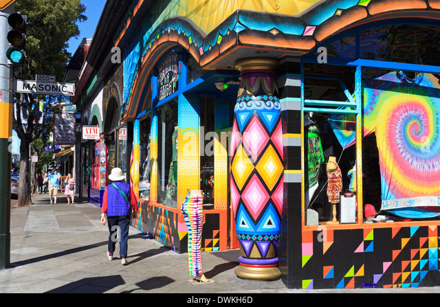 Store in Haight-Ashbury District, San Francisco, California, United States of America, North America - Stock Image