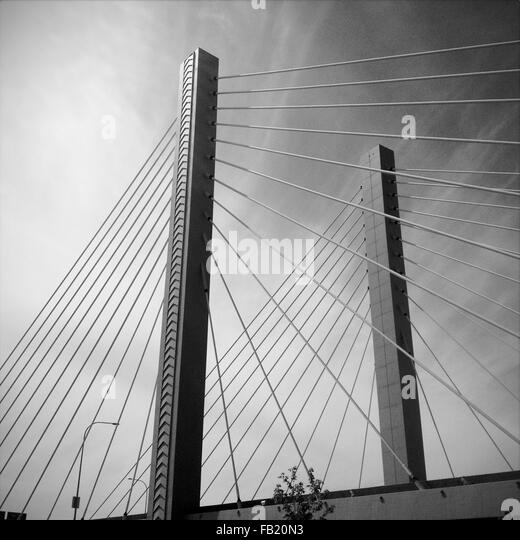 suspension bridge - Stock-Bilder