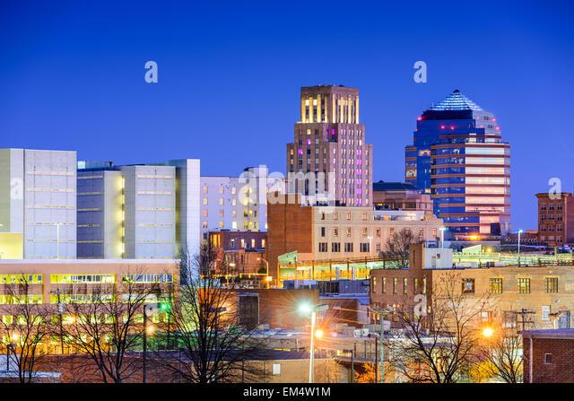 Durham, North Carolina, USA downtown city skyline. - Stock Image