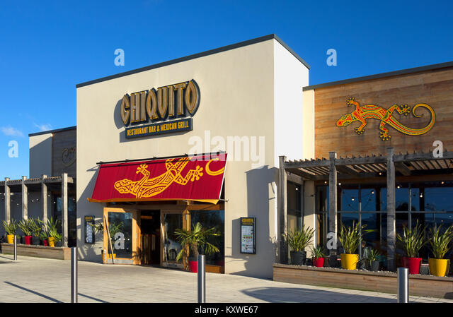 chiquito mexican restaurant in cornwall, england, uk. - Stock Image