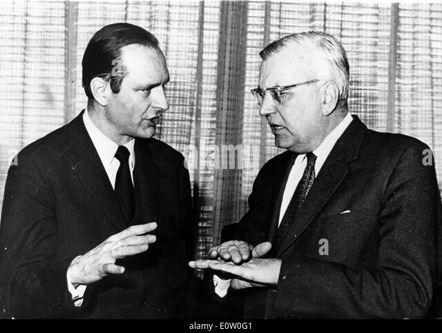 Baron Joseph Godber talks with a colleague - Stock Image