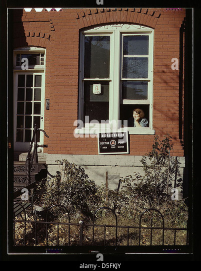 [Row house or school(?), Washington, D.C.] (LOC) - Stock Image