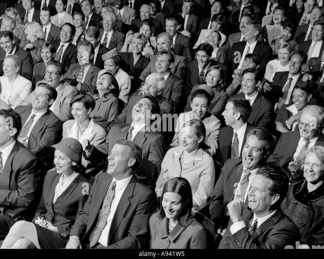 Laughing Audience Black And White Stock Photos Amp Images