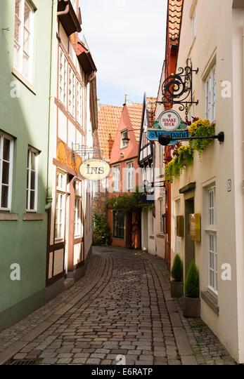 Schnoor Quarter, Bremen, Germany - Stock Image