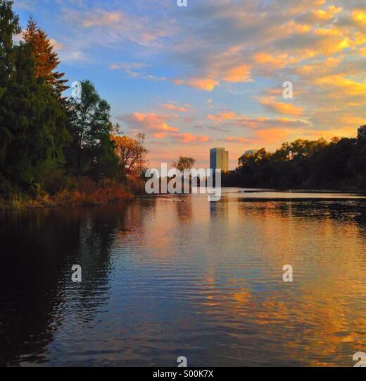 Sunset at Toronto's High-park - Stock Image