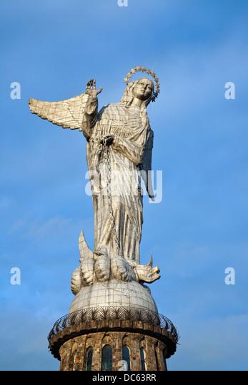 Virgin of Quito, Panecillo Hill, Quito, Ecuador - Stock Image