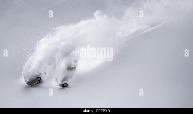 Austria, Freeride skier downhill skiing - Stock Image