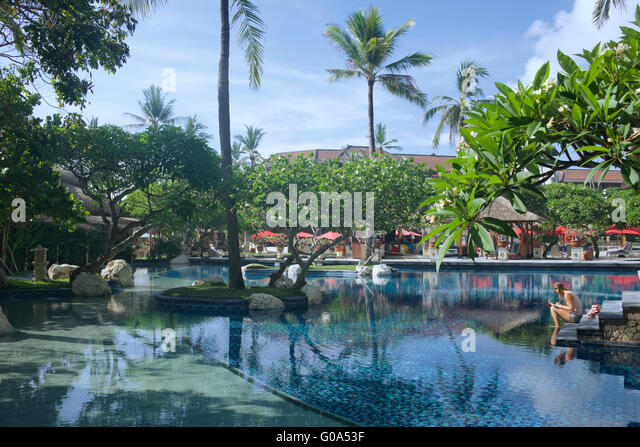 Bali garden stock photos bali garden stock images alamy for Green garden pool jakarta