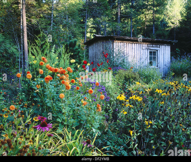 Colourful garden shed stock photos colourful garden shed stock images alamy - Garden sheds oregon ...